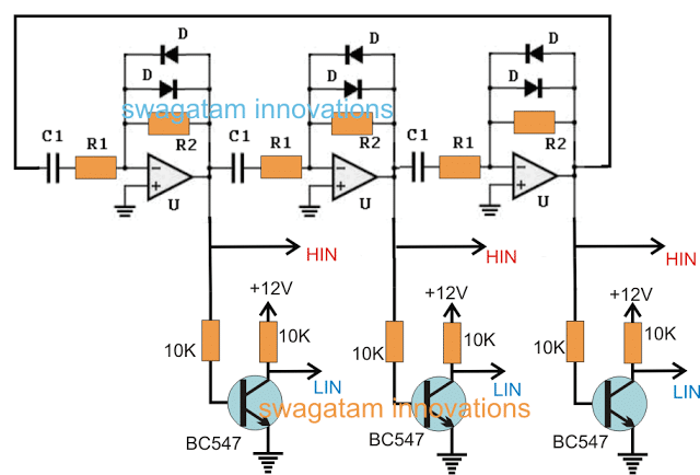 3 phase Solar Submersible Pump Inverter Circuit