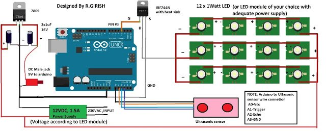 Automatic Street Light Dimmer using Arduino