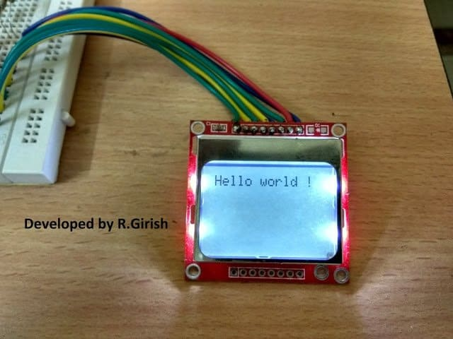 Cellphone Display Displaying Text with Arduino