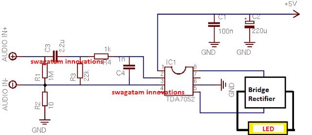 1 watt LiFi Internet Transmitter Circuit