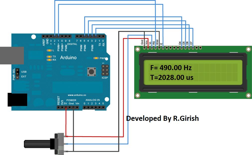 Single Channel Oscilloscope LCD Display