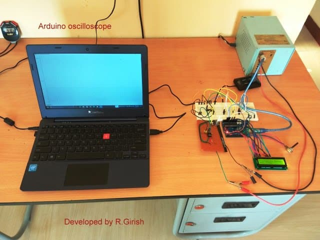 Prototype Image for Arduino oscilloscope circuit