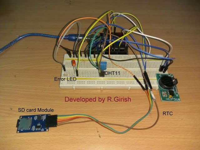 Prototype for Interfaced SD Card Module with Arduino