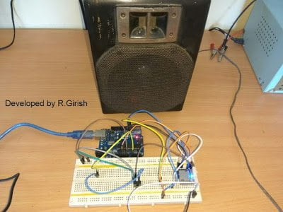 Author's prototype MP3 player Arduino