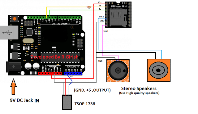 4 1 - Mp3 Player Using Arduino and DFPlayer