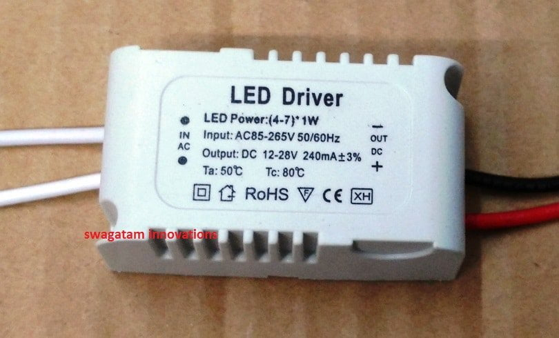 7 Watt LED Driver SMPS Circuit – Current Controlled