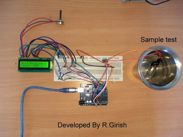 Automatic Irrigation Circuit using Arduino