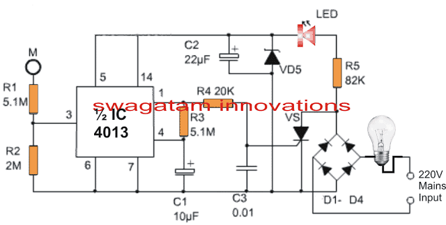 lamp 1 - 220V Touch Lamp Circuit with Delay Timer
