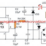 220V Touch Lamp Circuit with Delay Timer