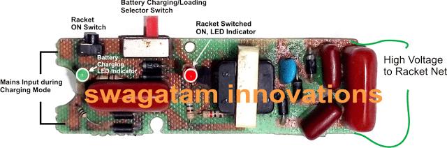 swatter - Mosquito Zapper Racket Circuit