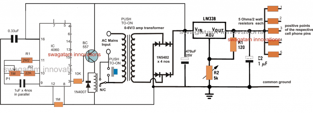 Timer Based Cell Phone Charger Circuit