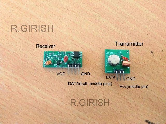 433 MHz transmitter/receiver module.