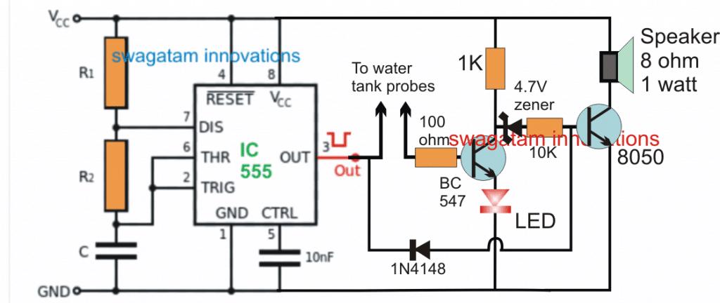 Car Tank Water Sensor Circuit