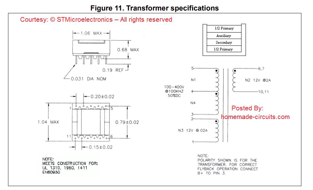 transformer winding details