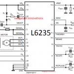 50V BLDC motor controller using L6235 IC module