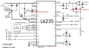 Circuit Diagram for 50V 3-Phase BLDC Motor Driver