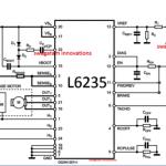 L6235 IC based BLDC motor controller circuit