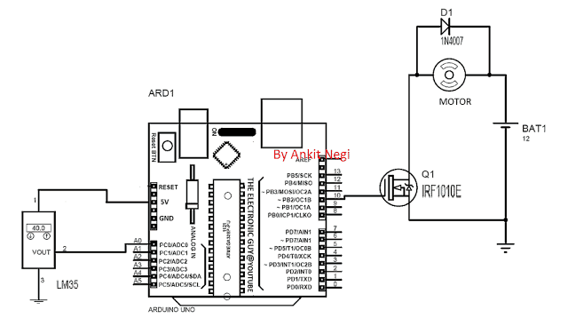 Automatic Temperature Control with Fan Motor and Arduino