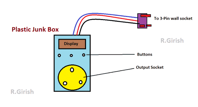 Layout 1 - LCD Socket Timer Circuit Using Arduino