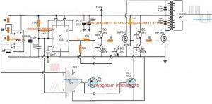 SPWM Inverter Circuit using IC 555