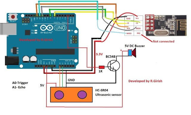 Car Parking Sensor Alarm Circuit to Alert Parking Obstacles