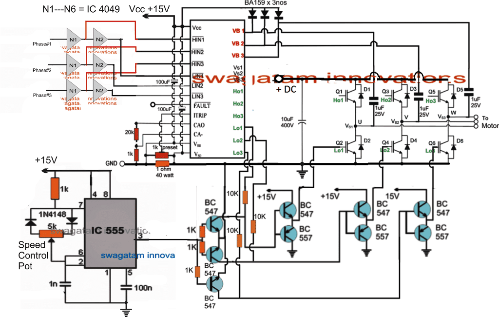 Simple electronic speed controller ESC circuit