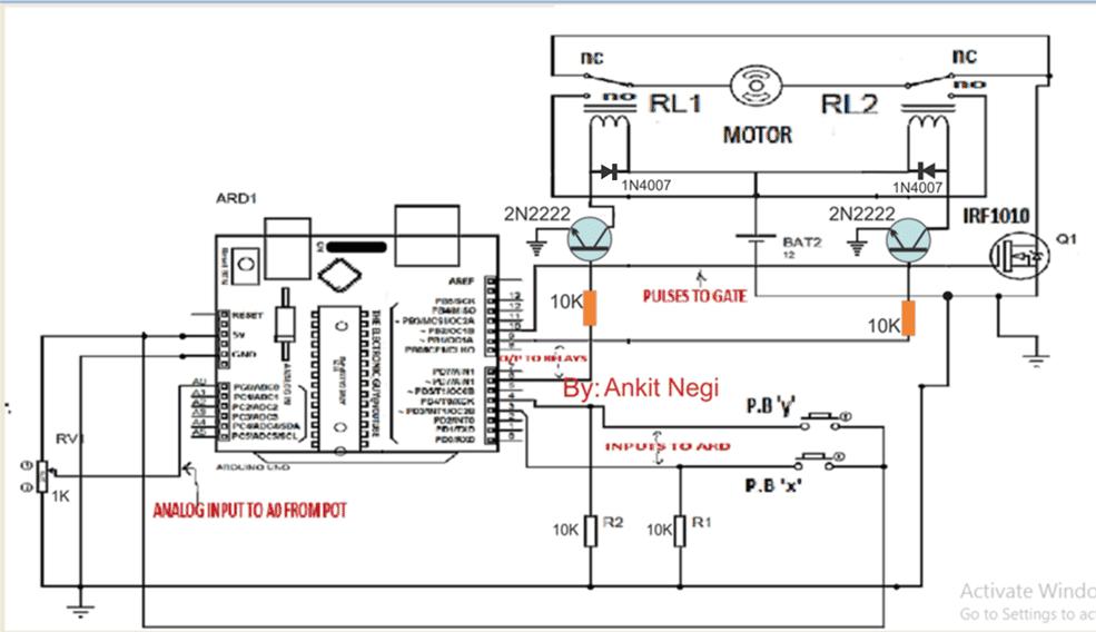 PWM Arduino Motor Control Circuit