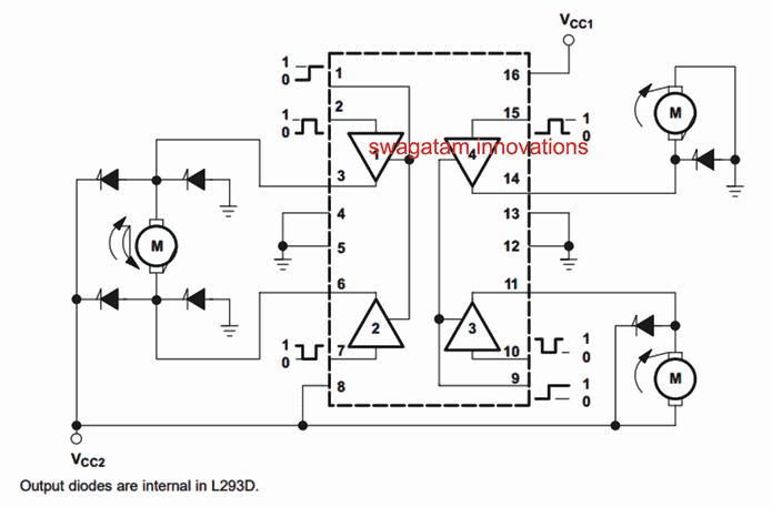 Motor Controller using L293 IC
