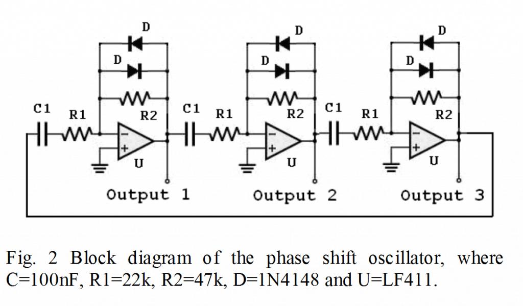 opamp based 3 phase generator circuit