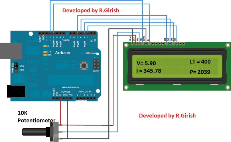 Over Current Cut-off Power Supply Display Circuit Using Arduino