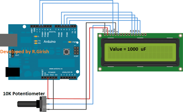 Digital Capacitance Meter Using Arduino