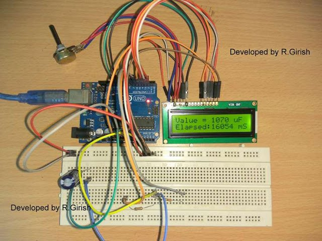 Digital Capacitance Meter Circuit Using Arduino