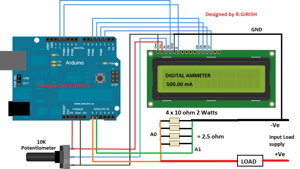 Arduino DC Digital Ammeter