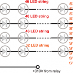 600 LED string light circuit