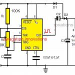 IC 555 Voltage Doubler Circuit