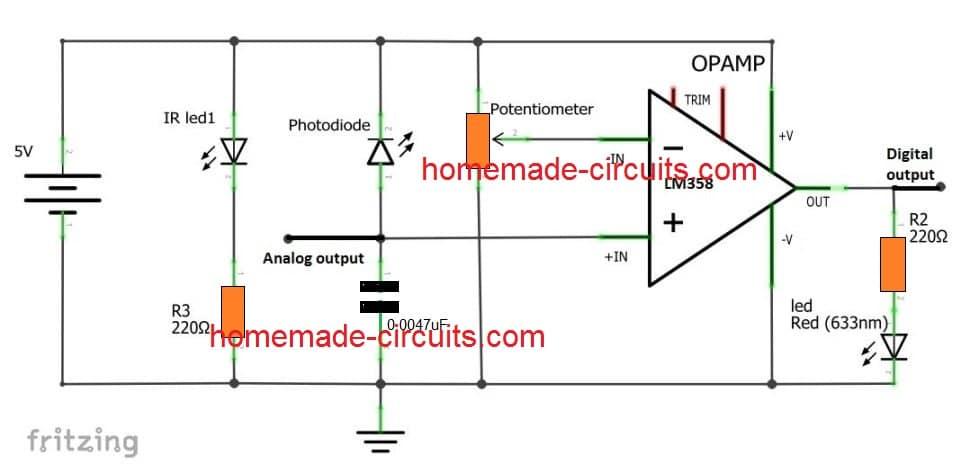 Proximity Detector Circuit Diagram - Wiring Diagram DB
