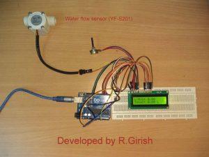 Simple Digital Water Flow Meter