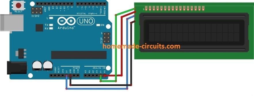 Arduino using I2C Adapter