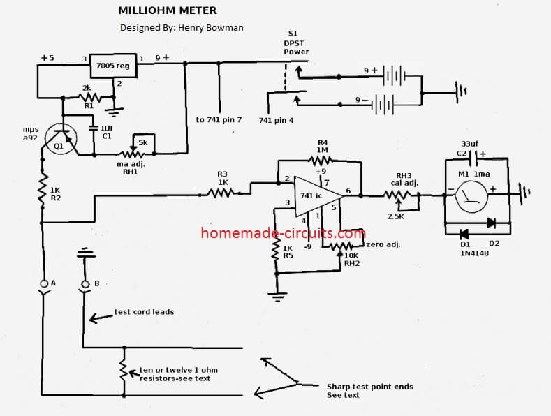 How to Make a Simple Milliohm Tester Circuit