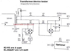 Simple Transformer Winding Tester Circuit