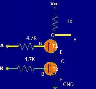 2 transistor NAND gate