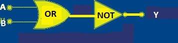 "Logic ""NOR"" Gate Equivalent Circuit:"