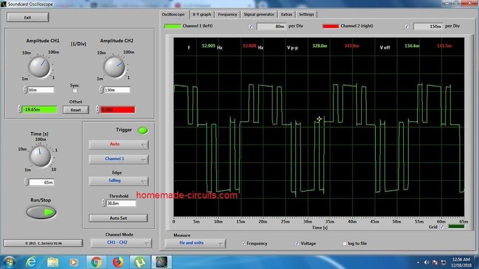 1500 watt inverter oscilloscope SPWM trace