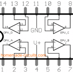LM324 IC pinout diagram details