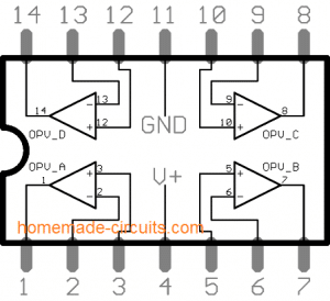 LM324 Quick Datasheet and Application Circuits