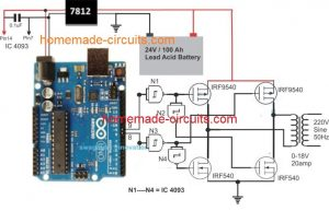Arduino Full-Bridge (H-Bridge) Inverter Circuit