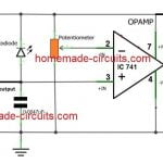 simple IR proximity sensor circuit with relay activation