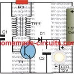 simple boost converter circuit using BJT