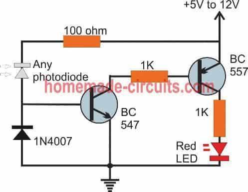 simple 2 transistor remote tester circuit
