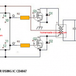 4047 simple inverter circuit